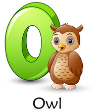 Letter O Is For Owl Cartoon Al...