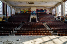 Derelict Theater - Abandoned Hoarce Mann High School - Gary, Indiana