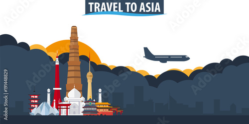 Travel to Asia Wallpaper Mural