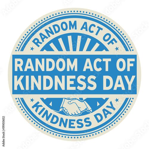 Obraz Random Act of Kindness Day - fototapety do salonu
