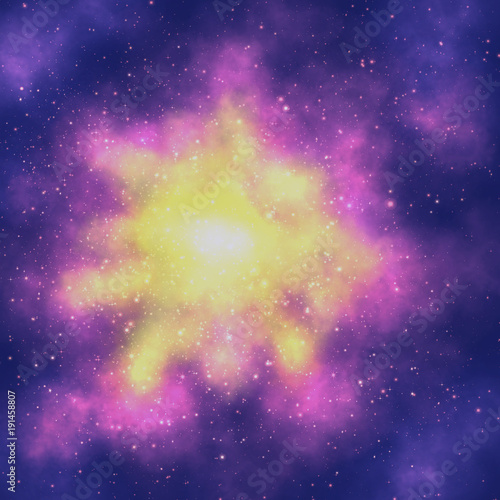 Abstract Watercolor Background Galaxy Space Stars Wallpaper