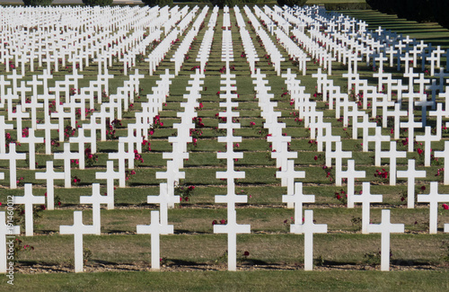 Photo  Crosses at World War One Cemetery at Verdun