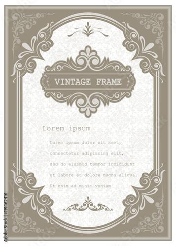 Papiers peints Affiche vintage vintage frame