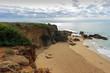 Playa en los acantilados de Roche en Cadiz
