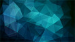 Horizontal polygonal banner. Vector Background