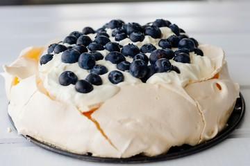 Panel Szklany Podświetlane Słodycze Delicious fresh pavlova meringue