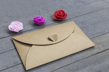 Valentine Day Letter. Envelope...