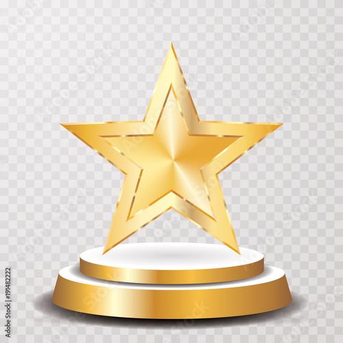Obraz gold star podium - fototapety do salonu