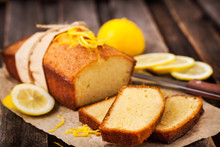 Classic Lemon Pound Cake On Ru...