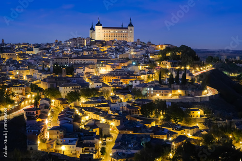 Foto  スペイン トレド 夜景