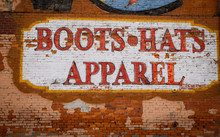 Painted Boots,hats And Apparel Sign In Nashville