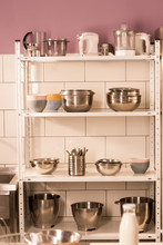Close Up View Of Various Kitch...