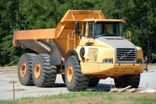 Large Dump Truck At Constructi...