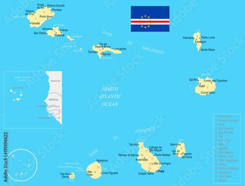 Cape Verde Map - Detailed Vector Illustration – kaufen Sie ...