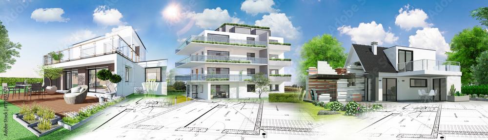 Fototapeta Concept immobilier et construction de maison