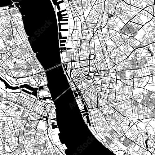 Liverpool Downtown Vector Map