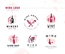 Collection Of Vector Wine Alco...