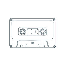 Audio Cassette Tape Isolated O...