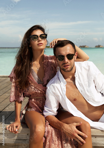 Love Story Photo Of Beautiful Couple In Honeymoon Relaxing In