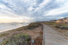 Cambria Wooden Walkway Along T...