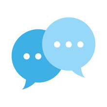 Colorful Chat Bubbles Text Not...