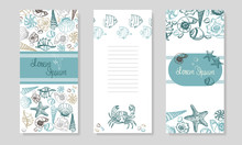 Seashells Booklet Design. Summ...