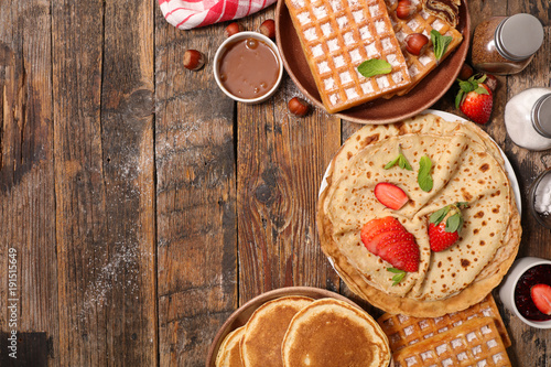 pancake, waffle and crepe Canvas Print