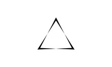 Triangle Logo Vector. With Bla...