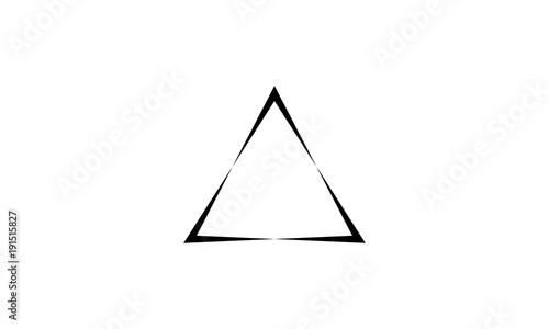 Fototapeta Triangle logo vector. with black color, vector icons.