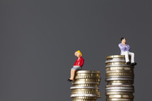 Gender Pay Equality Concept. M...