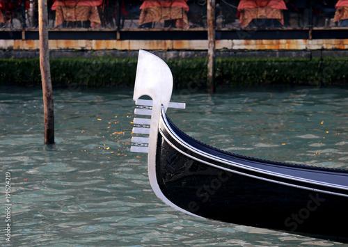 Spoed Foto op Canvas Gondolas Bow of gondola Symbol of Venice Island in Italy