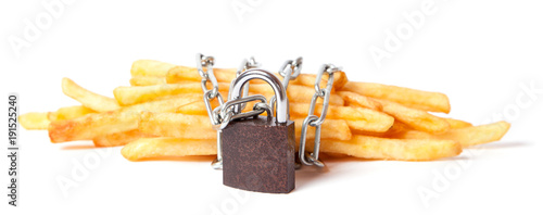 Photographie  Ban on potatoes for diet and cholesterol reduction