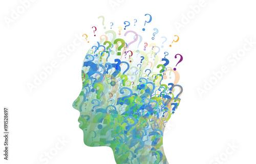 Fotografie, Obraz  punti interrogativi, domande, domandare