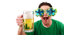 Man Celebrating St Patricks Day