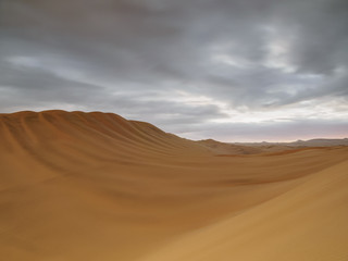 Fototapeta na wymiar Sand Dunes of Ica Desert near Huacachina, Ica Region, Peru