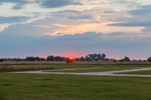 Suset Over The Airfield