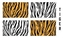 Set Of Abstract Tiger Skin Pat...