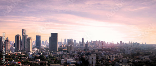 Poster Océanie Nice view of the city Bangkok in Thailand - Asia