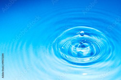 Fotografie, Obraz  水滴と波紋