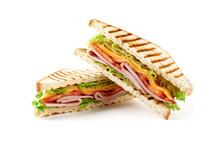 Sandwich With Ham, Cheese, Tom...