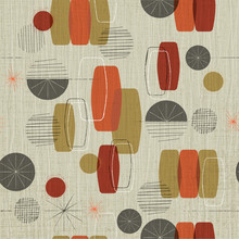 Retro Linen Textured Weave Wit...