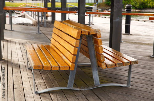 Photo  Wooden benches
