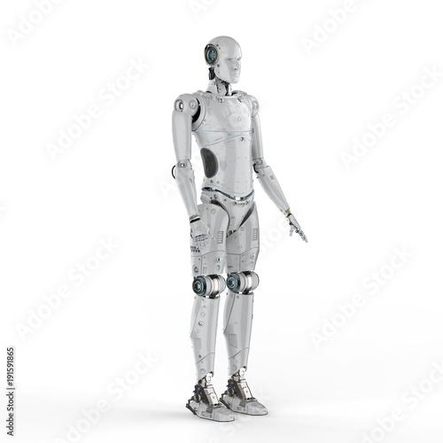 robot full body Canvas Print