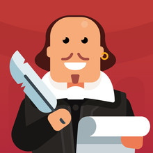 Vector Flat Icon Of William Sh...