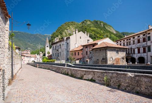 Fotografie, Obraz  Serravalle buildings in Vittorio Veneto, Italy