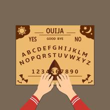 Ouija Board Flat Design Illust...