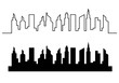 city silhouette vector template