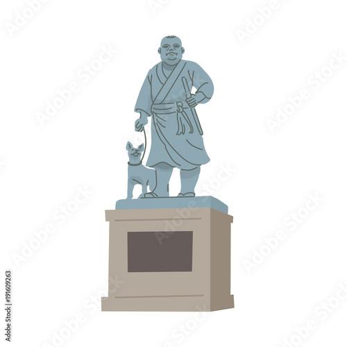 像 西郷 隆盛 上野公園の西郷隆盛像は何をしているところ?西郷像は兎狩り中だった?