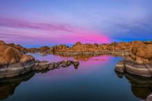Sunset Above Watson Lake In Pr...