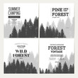 Pine forest. Journey banner collection.
